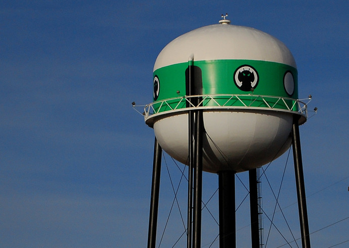 6. The UFO Water Tower, Ogallala