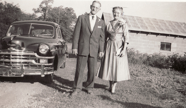 7. School teacher Albert King and his wife, Mary Elizabeth King, pose in Greene County.