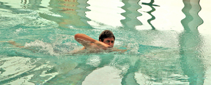 2. REALLY escape winter with some indoor swimming.