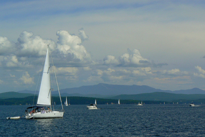 13.  Lake Champlain is always accessible.