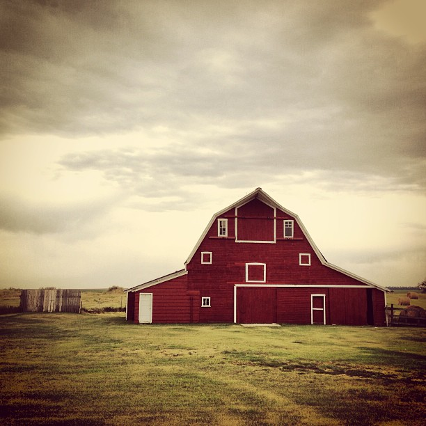 8. This lovely old barn near Skyeston, ND