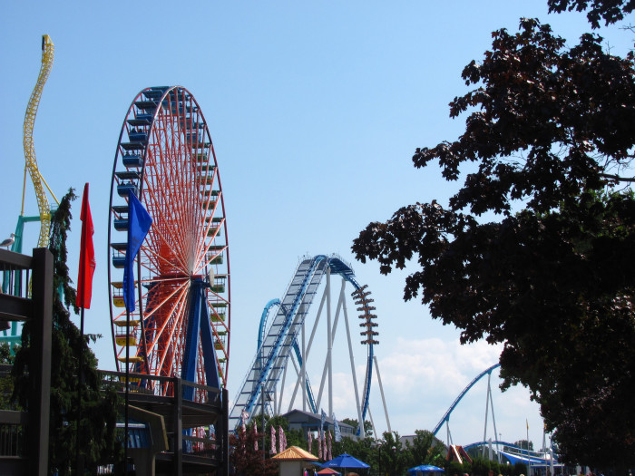 8) Making a once-a-year exception to travel into Ohio to visit Cedar Point.
