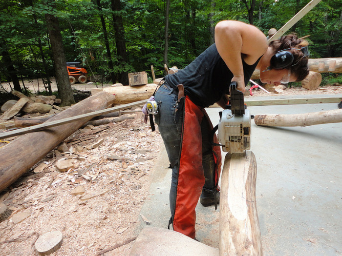 2.  We know how to use an axe, plow and a wood cutter.