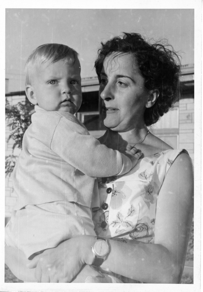"8. ""Here I am with my nanny at the Holiday Inn in Great Bend, Kansas on my first trip to the States."""