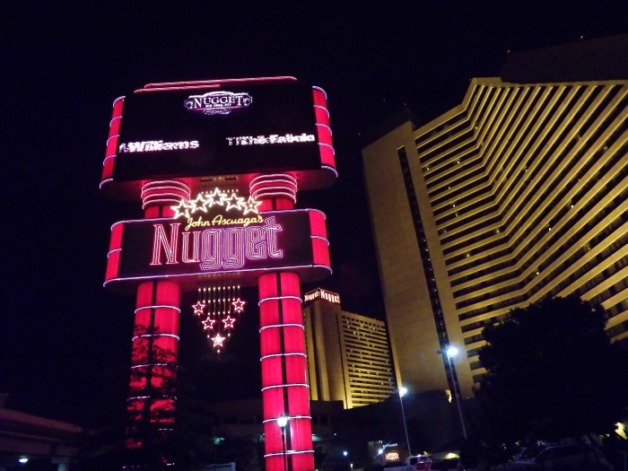 2. A closeup view of Nugget Casino Resort in Sparks, Nevada.