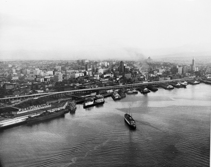 6. Here was the Seattle waterfront and skyline in 1952 - almost ten years before we had the Space Needle.