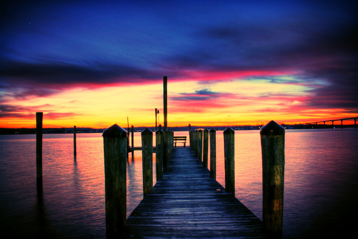 7) A magical pier at Solomon's Island in Southern Maryland.