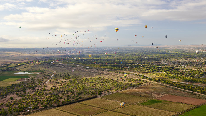7. Balloon Fiesta: Every October, the skies over Albuquerque fill with hot-air balloons.