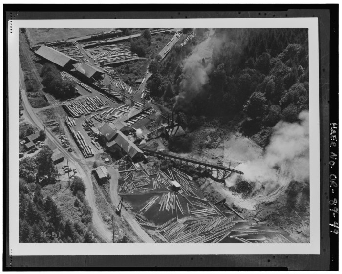 2. Aerial view of Hull Lumber Company, 1951.