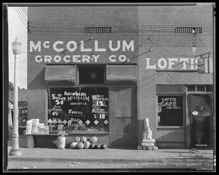 1. A grocery store in Greensboro, Alabama.