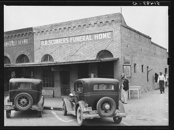14. A funeral home in Enterprise, Alabama.