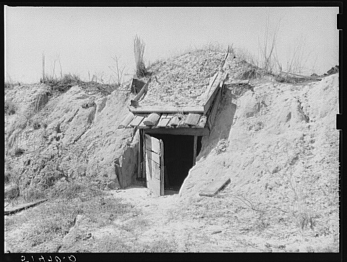 16. A storm shelter in Coffee County, Alabama that's shared between several families.