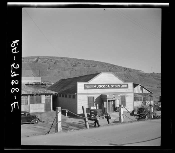 7. A general store for iron ore miners in Muscoda, Alabama.