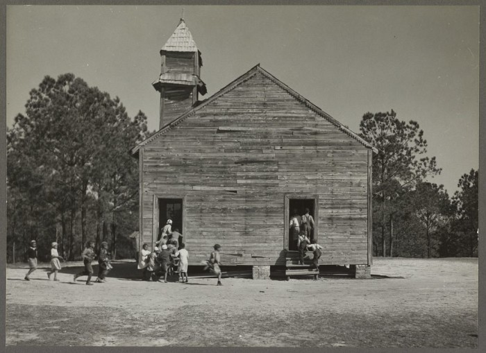 8. A one-room schoolhouse in Gee's Bend, Alabama.
