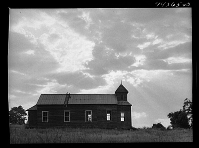 11. A church along route No. 80 near Lounsboro - May 1941.