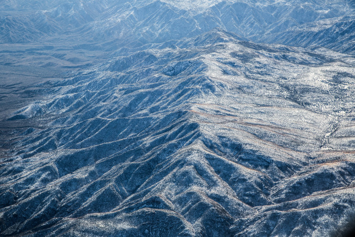7. Unknown Mountains: New Mexico's rugged terrain is especially apparent from an aerial perspective.