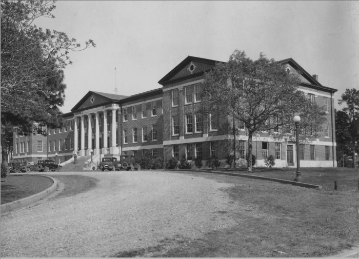1. Alexandria Hall at the turn of the 20th century of Louisiana College in Pineville.