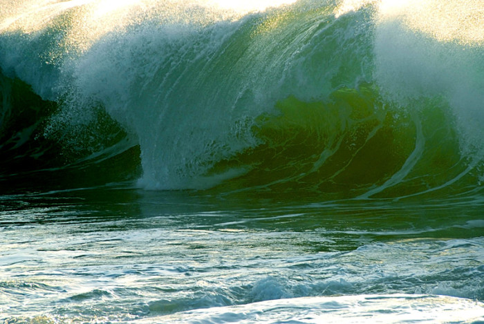 3) An intimidating wave off the coast of Molokai.