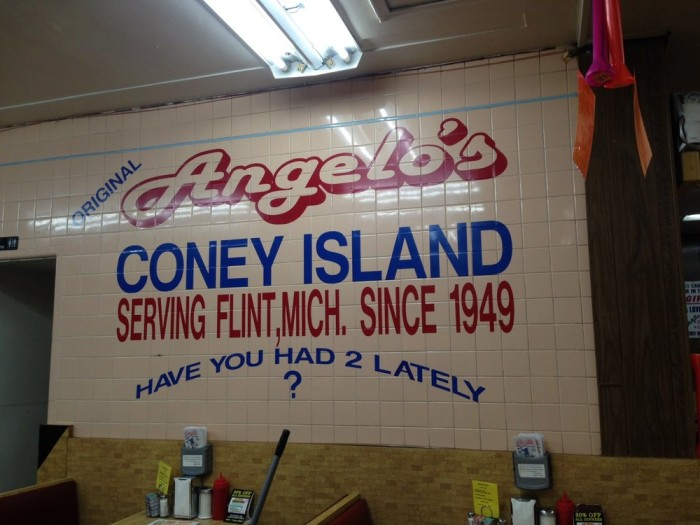 7) Angelo's Coney Island, Flint