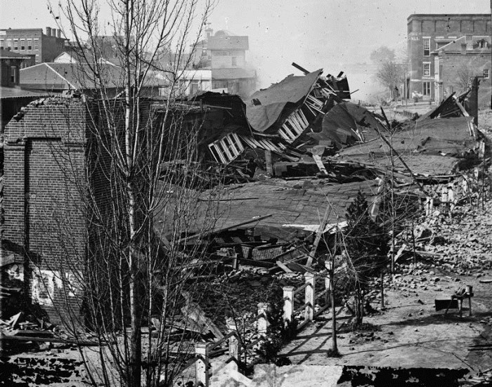 9. Atlanta was the only city in North America destroyed as an act of war.