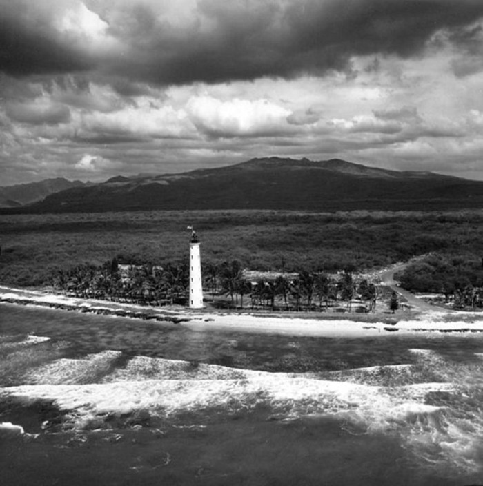 3) Barber's Point Lighthouse as photographed in 1952.