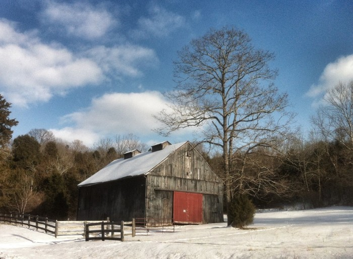 18. Beware the barn with the red door... just sounds perfect for a movie, though the scene is gorgeous.