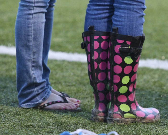 6. Winter boots and flip-flops…often side-by-side.