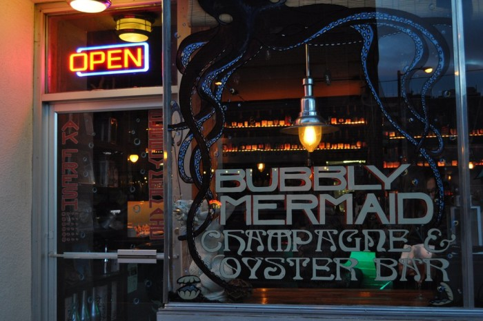 5) Bubbly Mermaid Champagne & Oyster Bar