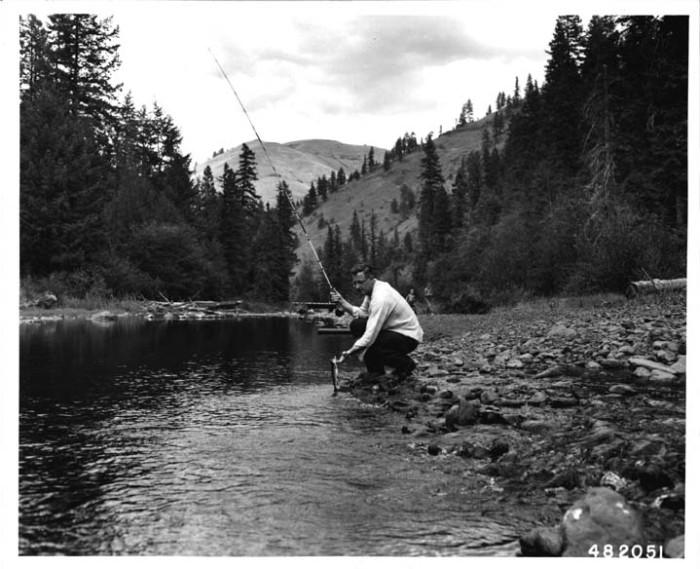 12. Fishing on the Umatilla River, 1956.