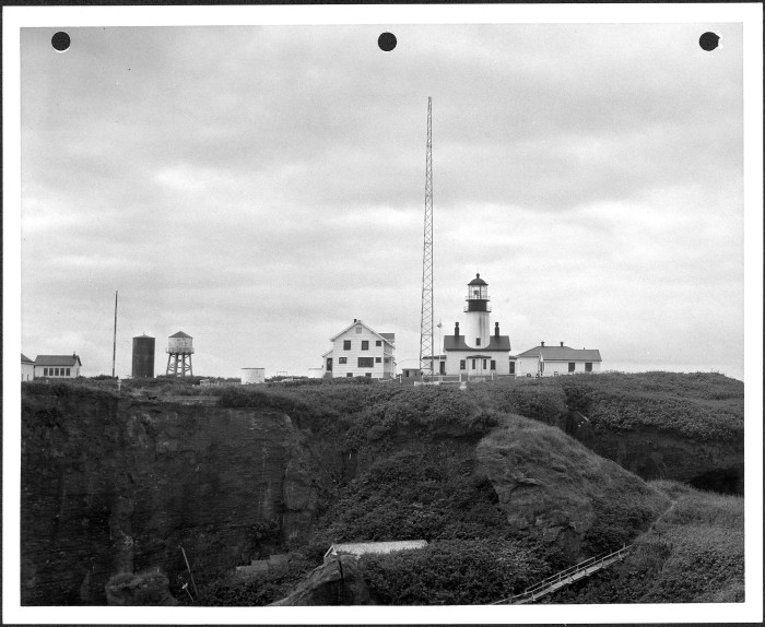 12. In this photo, you can see the Cape Flattery Lighthouse on Tatoosh Island, at the entrance of Strait of Juan de Fuca. Taken in 1953.