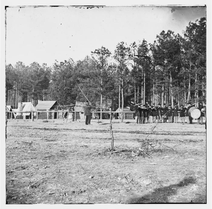 3. Union General Godfrey Weitzel's encampment at Chapin's Farm during the Battle of Chapin's Farm near Richmond, September 1864.