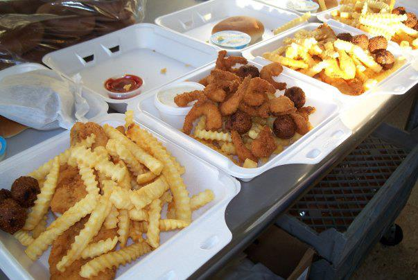 Charlie's Seafood and Carry Out food.