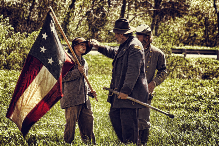 14. A Civil War reenactment in Tazewell County looks eerily real.