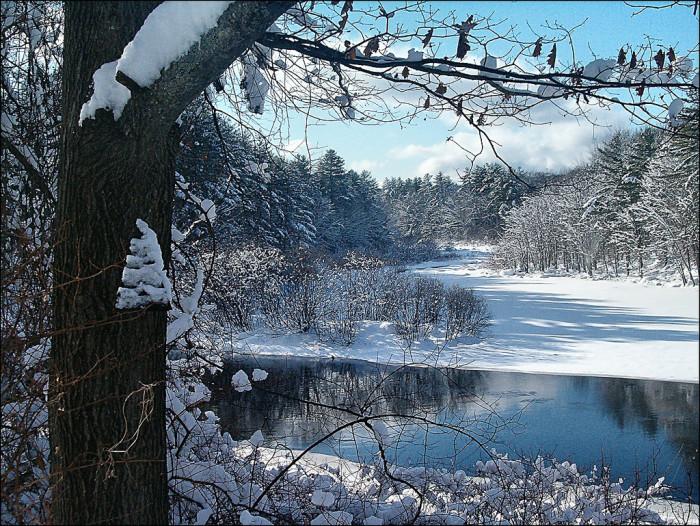 10. The frozen Contoocook River.
