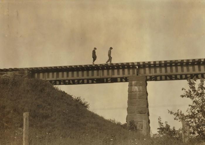 9. Crossing the trestle bridge in Westfield.