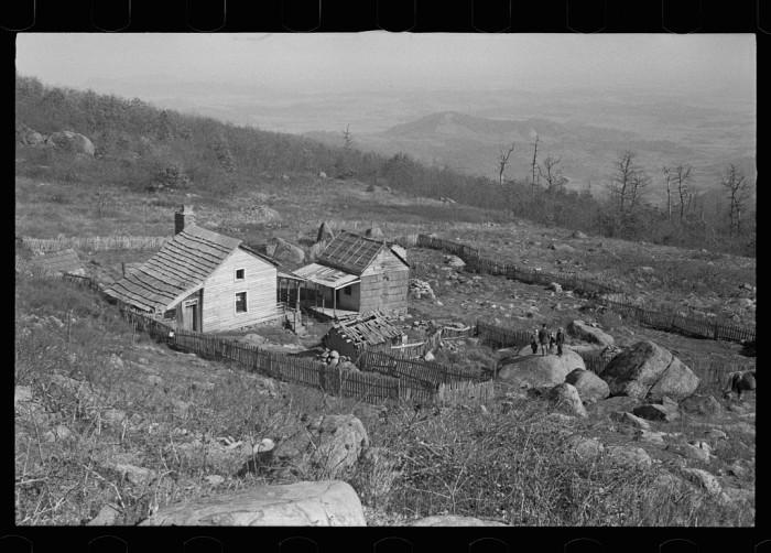 4. The farmhouse and land of Fannie Corbin in Corbin Hollow, Shenandoah National Park, 1935.