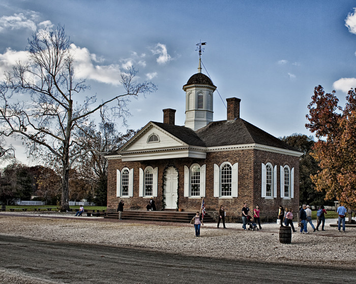 12. You can participate in a mock trial at the original Williamsburg Courthouse.