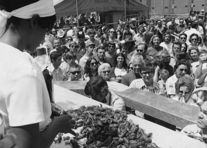 8. What the crawfish eating contest used to be like in Breaux Bridge.