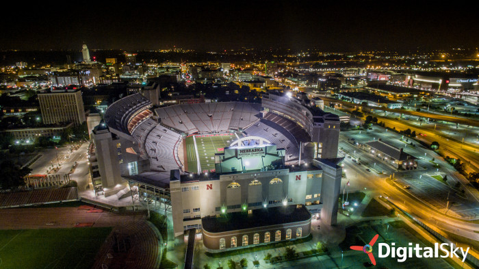 12. We wouldn't ordinarily call the stadium beautiful, but from this angle and in this lighting, that's exactly what it is.
