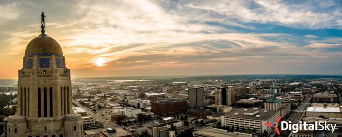 15. This shot of the sunset from the perspective of the capitol building is nothing short of stunning.