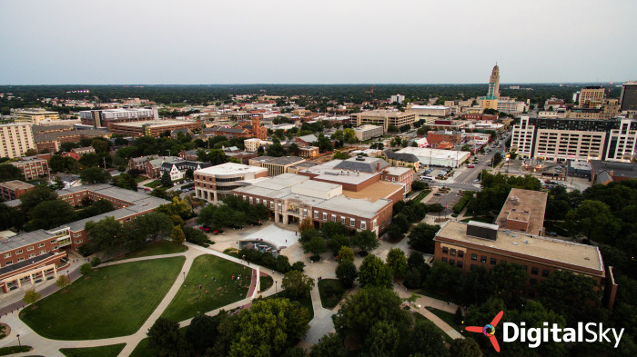 19. UNL's Student Union from way up high.