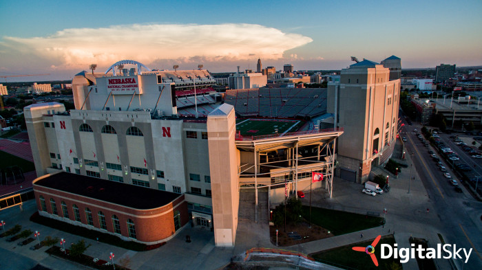 21. Another perspective on Memorial Stadium in the sunlight.