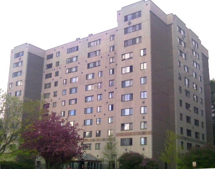 12.  Decker Towers is an eleven-floor apartment building located at 230 St. Paul Street in Burlington.