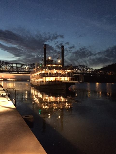 14. Dinner on a riverboat.