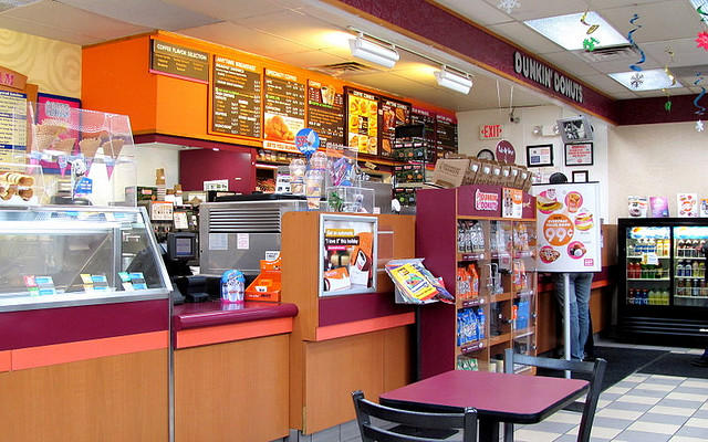 12. The long wait at Dunkin Donuts in the morning. Who hasn't died a little when they walk into Dunk's on their way to work and see the entire population of their town jammed into the space between the door and the register?