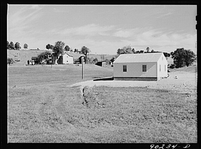 6. The home built on a Radford farm by the Farm Security Administration for Floyd Fleming, a defense worker at the Radford Powder Plant, 1941.