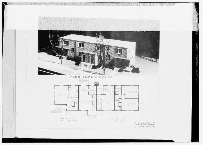 12. The floor plan of a four-family home to be built in Green Brook, New Jersey.