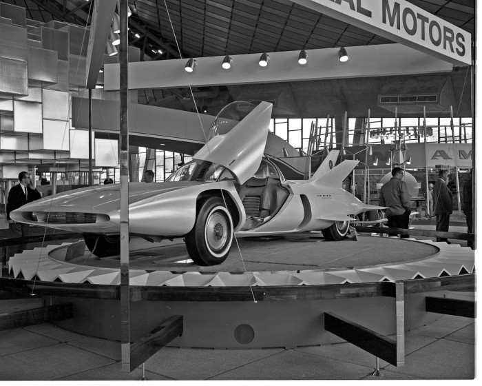 8. This Firebird III was captured at the fair in 1962. It was seen at the General Motors Exhibit in the Washington State Coliseum (now the KeyArena).