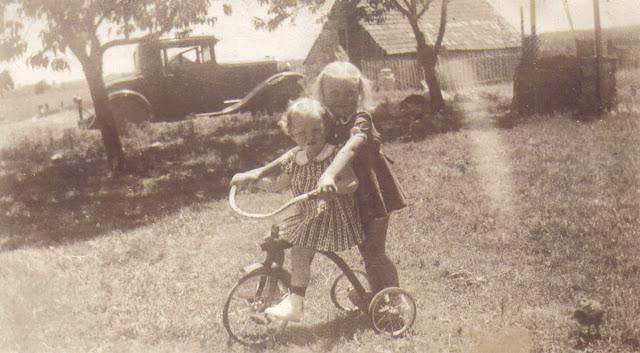 17. Girls rode trikes too
