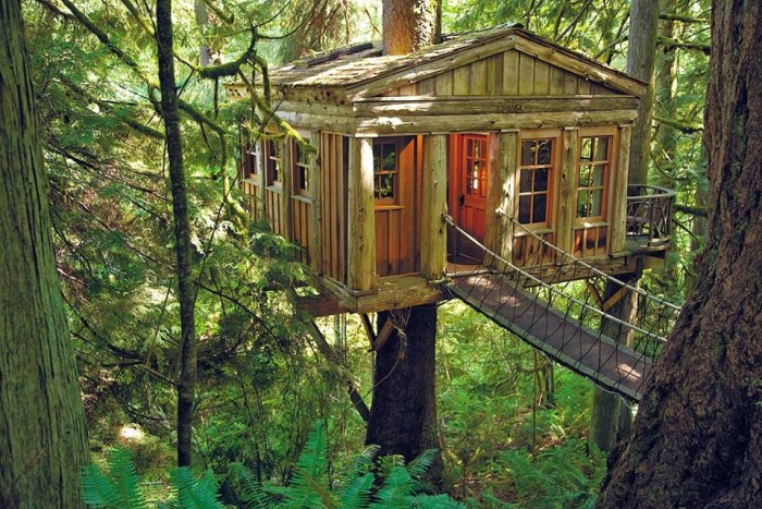 3) Stay in a luxury treehouse